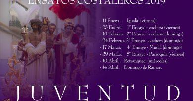 ENSAYOS COSTALEROS JUVENTUD 2019